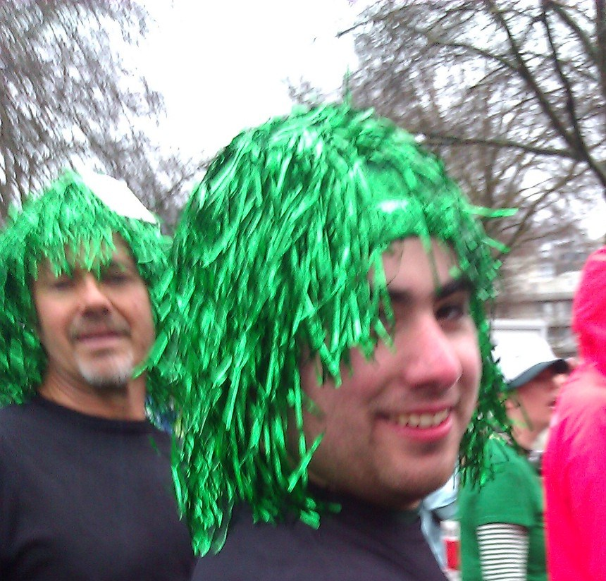 Raul at St. Paddy's Day Run
