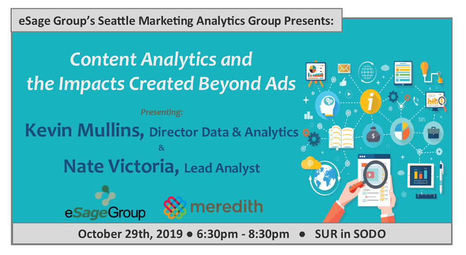 eSage Group Presents October 29th's Seattle Marketing Analytics Group Event w/ Meredith Corporation