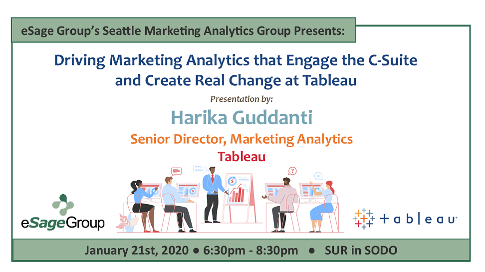 eSage Group Presents the Seattle Marketing Analytics Group's Event on 1/21: Driving Marketing Analytics that Engage the C-Suite and Create Real Change at Tableau