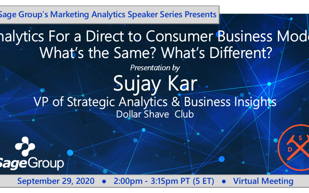 Analytics for a Direct to Consumer Business Model: What's the Same? What's Different? w/ Dollar Shave Club